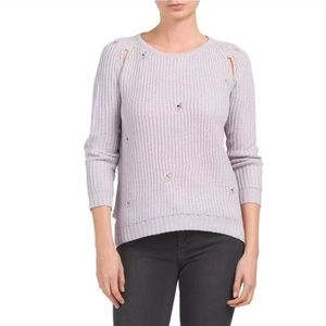 knyt   lynk Sweaters - KNYT   LYNK Distressed Sweater With Armhole Slits 88bf8a4a0